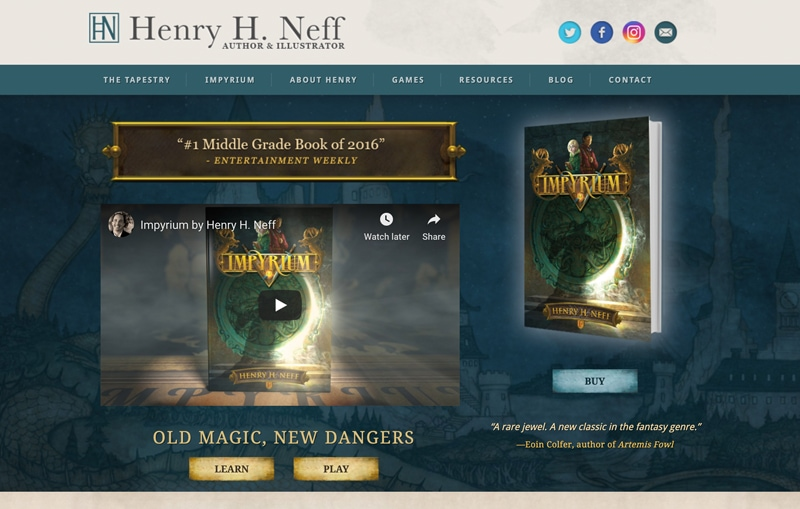 henry hneff  website
