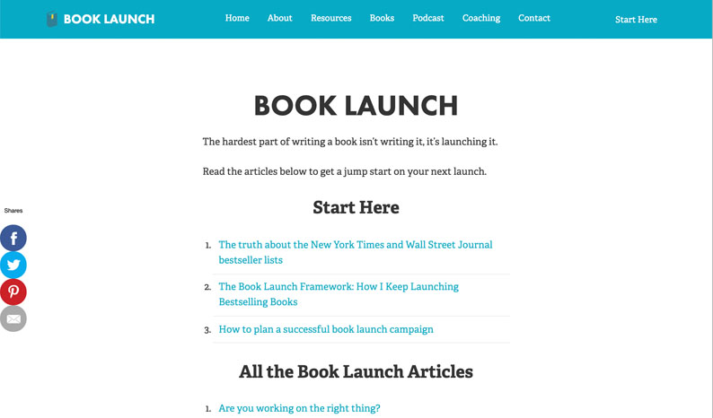 Tim Grahl's Book Launch Blog