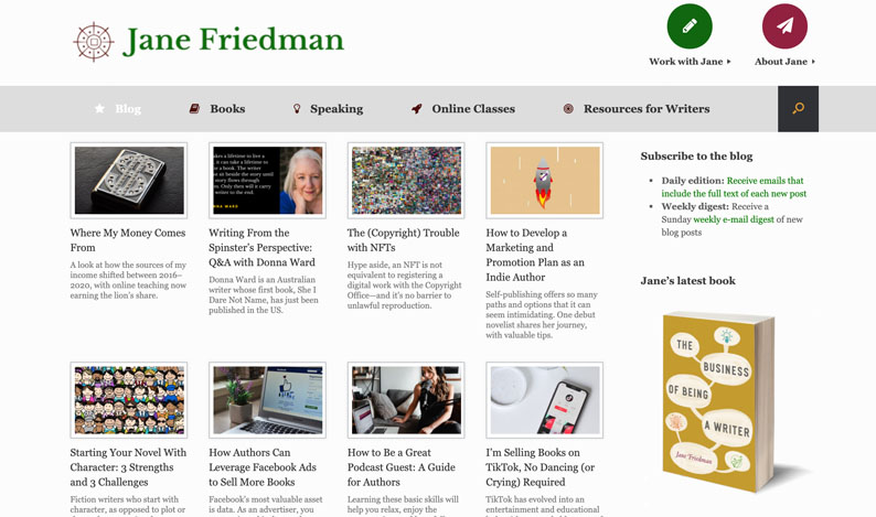 Jane Friedman's Blog